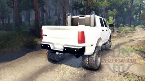 Dodge Ram 3500 dually v1.1 white para Spin Tires