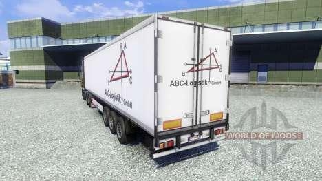 La piel ABC Logística semirremolque para Euro Truck Simulator 2