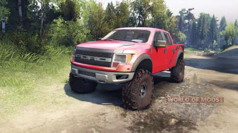 Ford Raptor SVT v1.2 factory sunset red para Spin Tires