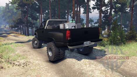 Chevrolet Regular Cab Dually black para Spin Tires