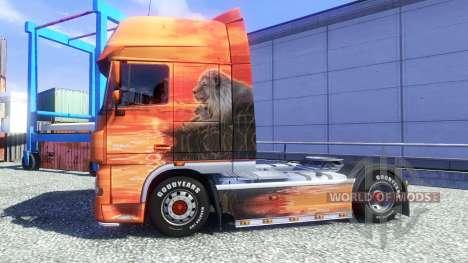 Lowe's de la piel para DAF XF tractora para Euro Truck Simulator 2