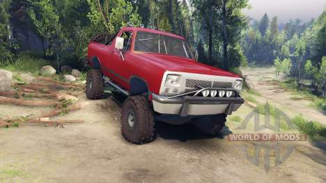 Dodge Ramcharger 1991 Open Top v1.1 blood red para Spin Tires