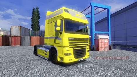 La piel de color Amarillo Edición para DAF XF tr para Euro Truck Simulator 2