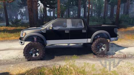 Ford Raptor SVT v1.2 black-gray para Spin Tires