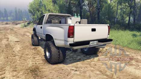 Chevrolet Regular Cab Dually white para Spin Tires
