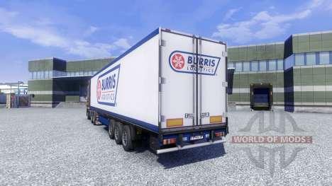 La piel Burris de la Logística en el remolque para Euro Truck Simulator 2