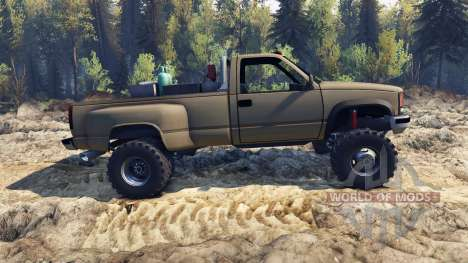 Chevrolet Regular Cab Dually tan para Spin Tires