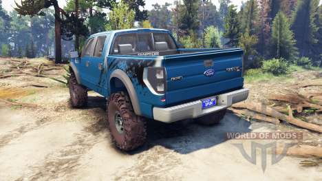 Ford Raptor SVT v1.2 factory blue flame para Spin Tires