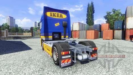 La piel de IKEA para DAF XF tractora para Euro Truck Simulator 2