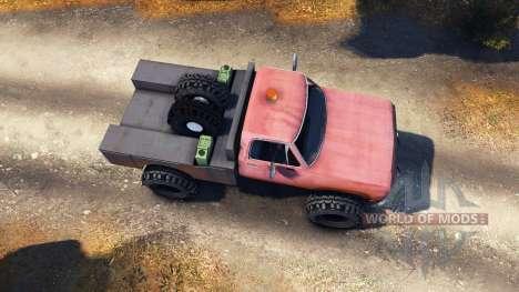 Dodge Power Wagon B-17 Rocks v1.2 para Spin Tires
