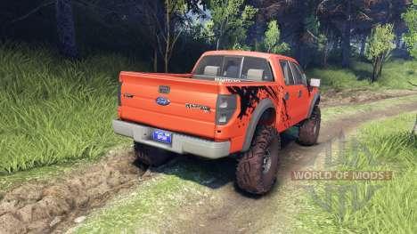 Ford Raptor SVT v1.2 factory comp orange para Spin Tires