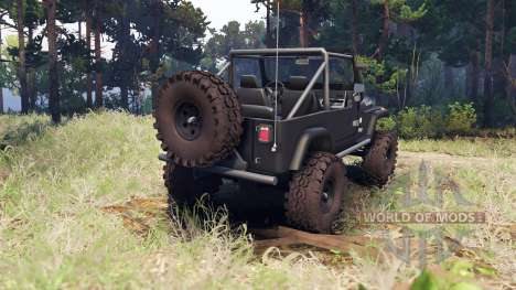 Jeep YJ 1987 Open Top gray para Spin Tires