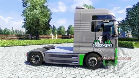 La piel TimberWolves en el camión MAN para Euro Truck Simulator 2