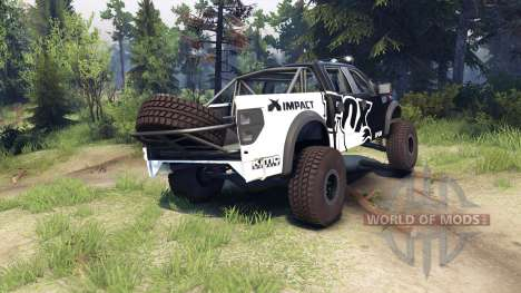 Ford Raptor Pre-Runner v1.1 fox para Spin Tires