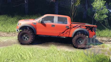 Ford Raptor SVT v1.2 factory comp orange para Spin Tires