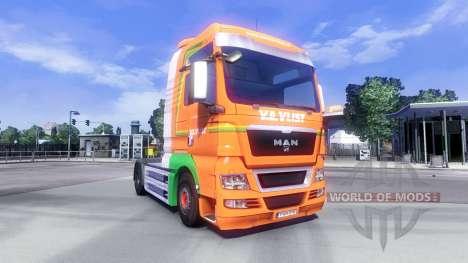 La piel de Van Der Vlist en el camión MAN para Euro Truck Simulator 2