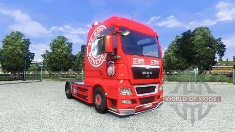 La piel del FC Bayern Munchen en el camión MAN para Euro Truck Simulator 2