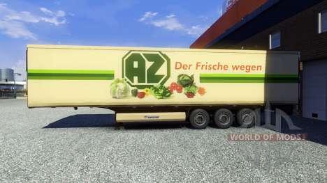 La piel AZ Kempen en el remolque para Euro Truck Simulator 2