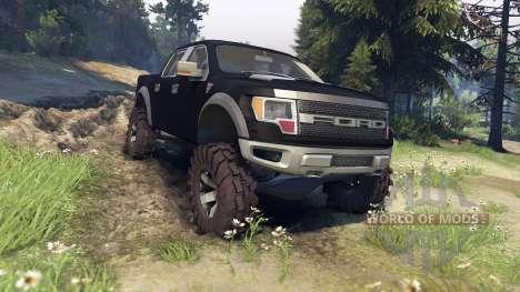 Ford Raptor SVT v1.2 matte black para Spin Tires