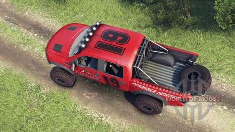 Ford Raptor Pre-Runner v1.1 terrible herbst para Spin Tires