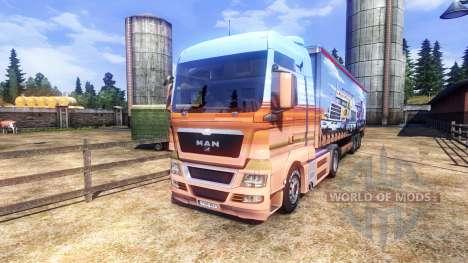 La piel Showtruck en el camión MAN para Euro Truck Simulator 2