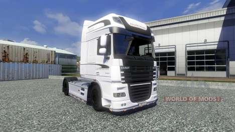 La piel Blanca de Edición para DAF XF tractora para Euro Truck Simulator 2