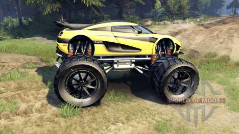 Koenigsegg One:1 Monster para Spin Tires