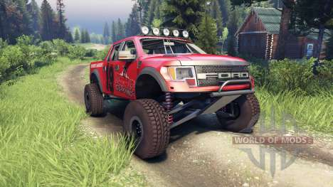 Ford Raptor Pre-Runner v1.1 terrible herbst para Spin Tires