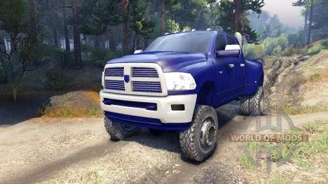 Dodge Ram 3500 dually v1.1 blue para Spin Tires