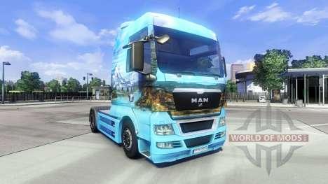 La piel Showtruck Paisaje en el camión MAN para Euro Truck Simulator 2