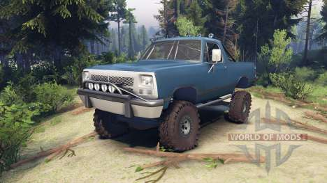 Dodge Ramcharger 1991 Open Top v1.1 light blue para Spin Tires