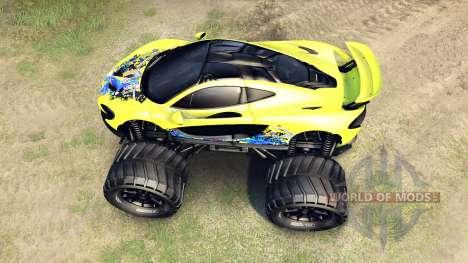McLaren P1 Monster para Spin Tires