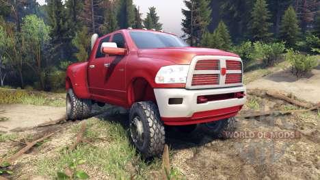 Dodge Ram 3500 dually v1.1 red para Spin Tires
