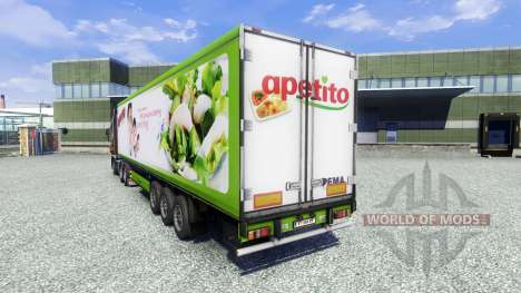 La piel Apetito en el remolque para Euro Truck Simulator 2
