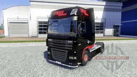 La piel Stocker Transporte para DAF XF tractora para Euro Truck Simulator 2