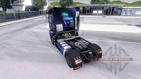 La piel Azul de Ensueño en la unidad tractora Re para Euro Truck Simulator 2