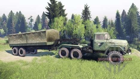 ЗиЛ-137 remolque tienda de campaña para Spin Tires