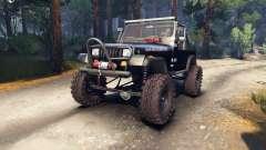 Jeep YJ 1987 Open Top black