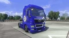 La piel de Hamburgo fahrt HOMBRE en el camión MA