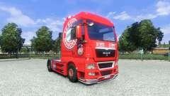 La piel del FC Bayern Munchen en el camión MAN