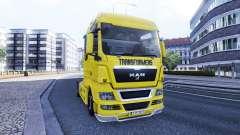 La piel de los Transformadores en el camión MAN
