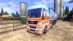 La piel Showtruck en el camión MAN