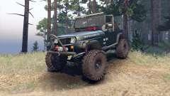 Jeep YJ 1987 Open Top dark green