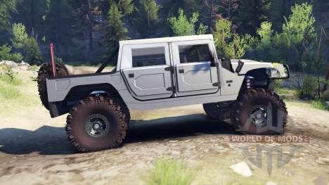 Hummer H1 silver para Spin Tires