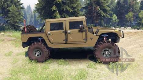 Hummer H1 army green para Spin Tires