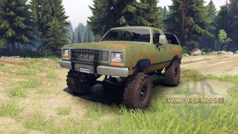 Dodge Ramcharger 1985 v1.0 para Spin Tires