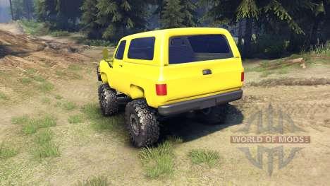 Chevrolet K5 Blazer 1975 v1.5 yellow para Spin Tires