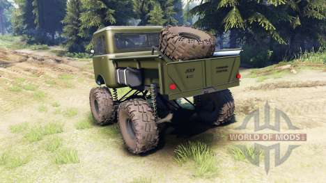 Jeep FC green para Spin Tires