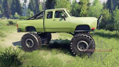 Dodge D200 green para Spin Tires
