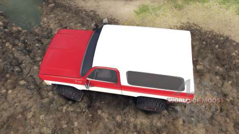 Chevrolet K5 Blazer 1975 red and white para Spin Tires